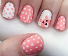 Easy and Simple Nail Art Designs for Beginners To Do At Home Here is the 15 Easy and Simple Nail Designs for Beginners To Do At Home. Learn Easy Nail Art Designs with this Given Step by Step Tutorial Pictures. Dot Nail Designs, Pretty Nail Designs, Simple Nail Art Designs, Nails Design, Nail Designs For Kids, Art Simple, Animal Nail Designs, Little Girl Nails, Girls Nails