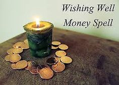 Wishing Well Money Spell - Pinned by The Mystic's Emporium on Etsy It's been a while since I worked with the waxing moon. I'm trying to get my new website up and … Wiccan Spells, Magic Spells, Witchcraft Herbs, Witch Spell, Money Spells, Candle Magic, Practical Magic, Believe In Magic, Kitchen Witch