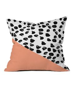Animal & Peach Throw Pillow