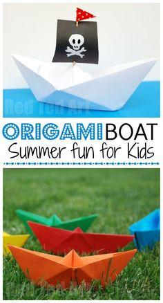 How to... make a Paper Boat! This is such an easy origami boat and it is so fun to play with, that it makes the perfect easy origami for kids to learn.