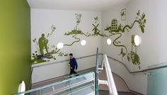 Acrylize NHS staircase mural