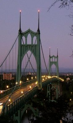 Was there ! The St. Johns Bridge in Portland, Oregon, US