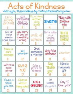 The Best Random Acts of Kindness Ideas for Preschoolers & Kindergarten, Random Acts of Kindness for Kids, Acts of Kindness Printables, Raising Grateful Kids with kindness activities, and hundreds of Random Acts of Kindness Ideas Kindness Projects, Kindness Activities, Learning Activities, Activities For Kids, Teaching Kindness, Movement Activities, Social Emotional Learning, Social Skills, Teaching Kids