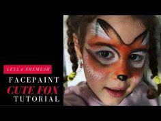 Cute fox facepaint tutorial - YouTube