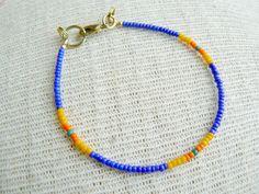 Bahama Blue Cobalt Blue Seed Bead Friendship by EtymologyJewelry