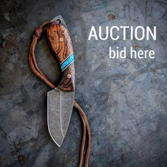 "AUCTION BID HERE For VORN Skálpr Starting bid: $150 Bid increments: at least $10 Bid in comments Ends: sometime this evening Must be 18 yrs to bid Free shipping within US. $20 international Winner must pay via PayPal Knife info: CPM s35vn steel Desert Ironwood Burl / Turquoise scales Mosaic pins Includes leather sheath 7"" OAL #auction #knife #ironwood #turquoise #leather #knifefanatic #knifeporn #knivesdaily #handmade #801 #campknife #camping #bushcraft #bushcraftknife #hunting #huntingkn..."