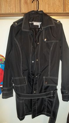 GORGEOUS! JACKLYN SMITH,NWOT SZ.L/XL,BLACK W/ WHITE TRIM,NYLON BLEND,PERFECT 4 THE RAIN! BELT TOOO!: http://www.outbid.com/auctions/10348-fashion-s-first-retro-retail-groovy-gadgets-express-your-innerself-jewelry#3