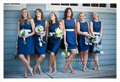 These bridesmaids dresses would go well with the Sandal Candy Emily Wedge for a perfect Chesapeake-style affair.