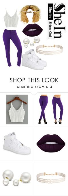 """Purple on Everything"" by dimitrisgreene on Polyvore featuring NIKE, Lime Crime, Allurez, Humble Chic and Cara"