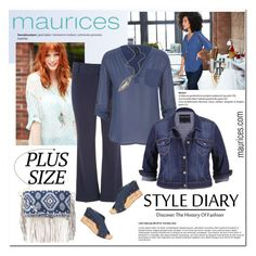 """""""The Perfect Blouse with maurices: Contest Entry"""" by cruzeirodotejo ❤ liked on Polyvore featuring maurices, contest, Maurices and plussize"""