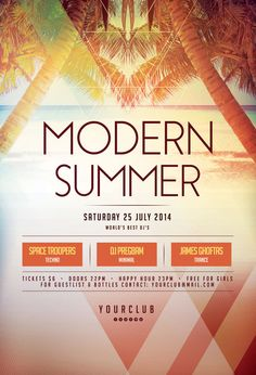 Modern Summer Flyer by styleWish (Buy PSD file - $9) #design #poster #graphic
