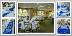 Royal Blue colour schemed venue dressing. You can hire venue dressing like this at Natalija.Co Event Planning, find us on facebook, or visit our website, www.natalija.co.uk
