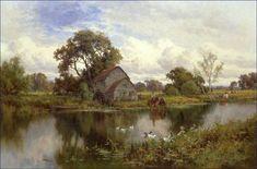 Famous English Painters | landscape painting by Henry H. Parker