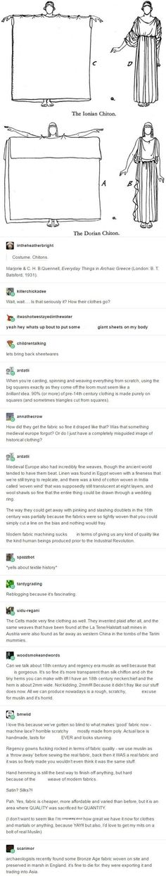 I love this thread! Textile history!The history nerd inside me is making a happy dance,later I'm gonna research these facts!
