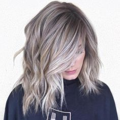 60 Shades of Grey: Silver and White Highlights for Eternal Youth - Ash Blonde Balayage with Golden Babylights - Ash Blonde Hair With Highlights, Grey Blonde Hair, White Highlights, Silver Blonde, Golden Blonde, Platinum Blonde, Cool Ash Blonde, Ash Gray Hair Color, Blonde Honey