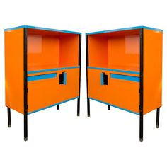 Pair of 1960s Italian Nightstands by Ico Parisi | From a unique collection of antique and modern night stands at https://www.1stdibs.com/furniture/tables/night-stands/