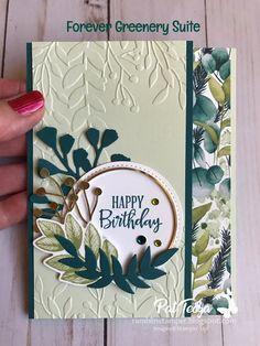 Stampin Up Karten, Karten Diy, Fun Fold Cards, Folded Cards, Diy Cards, Embossed Cards, Stamping Up Cards, Handmade Birthday Cards, Sympathy Cards