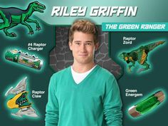 Riley Griffin The Green Dino Charge Ranger