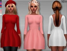 Sims Addictions: Voulez Vous Dress by Margies Sims • Sims 4 Downloads