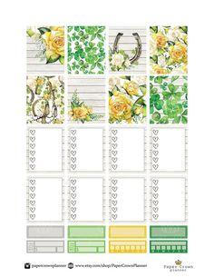 LUCKY Sticker Kit/Printable Planner Stickers/Planner