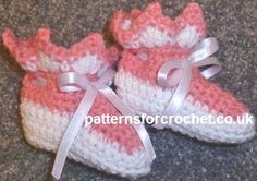 Free baby crochet patterns Booties USA