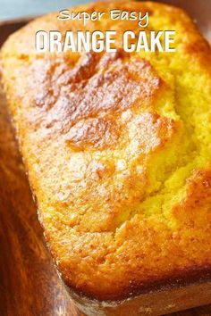 Super easy orange cake recipe just put all the ingredients in the blender and blend them away that s how easy this recipe is A very fast recipe to prepare with no time at all cake orangecake easyrecipe quickcake elmundoeats Pound Cake Recipes, Easy Cake Recipes, Gourmet Recipes, Dessert Recipes, Fast Recipes, Orange Recipes Easy, Recipes With Oranges, Beef Recipes, Delicious Desserts