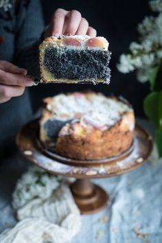 Sweet Orange Blossom, Rhubarb & Poppyseed Cake