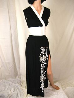 1950's Vintage Alfred Shaheen Designer-Couture Hawaiian Black and White Tropical Tiki-Print Hourglass