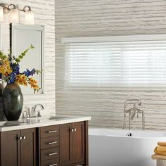 """2"""" Premium Faux Wood Blinds Bathroom Window Curtains, Bathroom Window Treatments, Bathroom Windows, Drapes Curtains, Faux Wood Blinds, Blinds For Windows, Window Blinds, Large Windows, Other Rooms"""