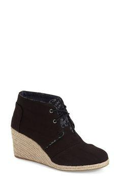 TOMS 'Desert' Espadrille Wedge Boot (Women)