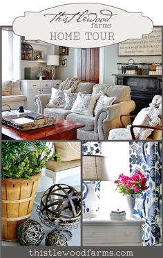 Thistlewood Farms Home Sweet Home Tour www. via bHome bhome. House Design, Home Decor Inspiration, Decor, House Interior, Diy Home Decor, House Tours, Home, Interior, Home Decor