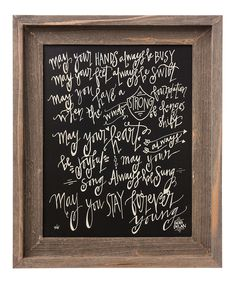 Look at this 'Stay Forever Young' Framed Sign on #zulily today!