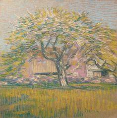 """""""Tree in Bloom,"""" Charles Salis Kaelin, ca. 1920, pastel on paper, 16 1/8 x 16 1/8"""", Spanierman Gallery."""