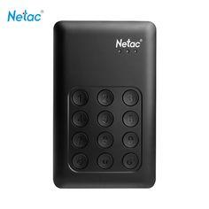 Netac K390 USB 3.0 External Hard Drive 500GB 1TB  2TB Keypad Lock AES 256-bit Hardware Encryption HD Externo Disco HDD Disk