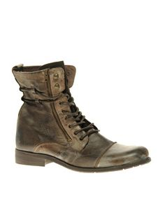 River Island Multi-Eyelet Military Boots £70.00