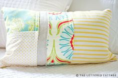 i've always been a huge fan of this DIY pillow from the lettered cottage ... so many options!
