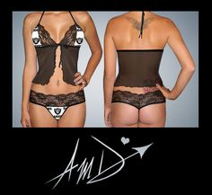 Sexy NFL white Oakland Raiders custom made to fit scallop lace camisole lingerie top with matching scallop lace G string set on Etsy, $37.99