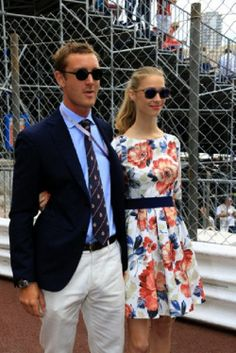 Pierre Casiraghi and his girlfriend Beatrice Borromeo at the Monaco Grand Prix, 25.04.2014