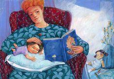 Original Family Painting by Georgiana Chitac Find Art, Buy Art, Original Paintings, Original Art, Family Painting, Gouache Painting, A Christmas Story, Children's Book Illustration, Figurative Art