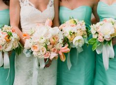 Lush spring bouquets of peonies, garden roses, tulips, solomon's seal for Virginia plantation wedding by Jeanette McKittrick. Katie Stoops Photography