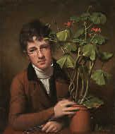 Rubens Peale with a Geranium, 1801.  National Gallery of Art, West Building.