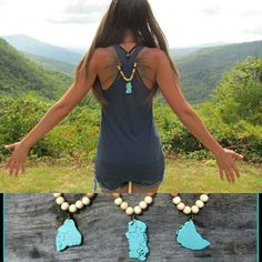 Tons of new listings going up in the shop today! Wearing the brand new turquoise beaded necklace on the @blueridgeparkway.  Now available in my etsy shop.  Link to my shop in my bio. :) #pocahontas #beautiful #beauty #summer #crystal #turquoisejewelry #turquoise #tribal #blueridgeparkway #love #fashion #boho #bohemian #gypsy #goals #longhair #wanderlust #festivalfashion #travel #mountains #latepost #positivity #goodvibes #instagood #beautifulday #badass  #coachella #hippie #girl #nature