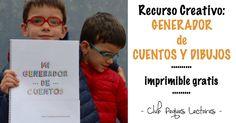 Generador de cuentos y dibujos Diy For Kids, Storytelling, It Cast, School, Books, Movie Posters, Amazing, Ideas, Spanish