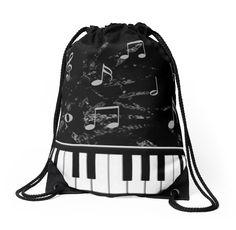 Black and White Piano Music Pattern