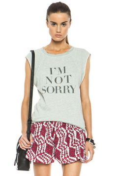 Pam & Gela|I'm Not Sorry Hi-Lo Cotton-Blend Sweatshirt in Heather Grey [1]