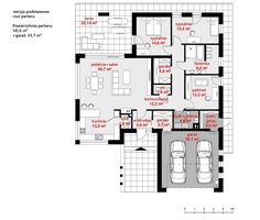 Rzut CPT Koncept 31 CE Home Goods, House Plans, New Homes, Floor Plans, How To Plan, Home Plans, Houses, Future House, Blueprints For Homes