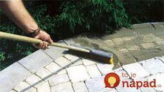 installation of stone pavers- installation of polymeric sand Polymeric Sand, Interlocking Pavers, How To Install Pavers, Wall Installation, Pool Decks, Flagstone, Garden Tools, Concrete, Restoration