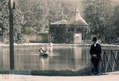 Sadzawka w Parku Krakowskim ok 1890