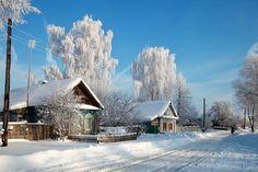 Россия, снег, деревня