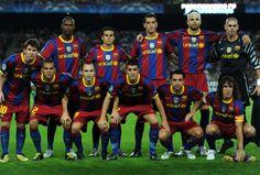 FC Barcelona, squad 2011. Best football team  i´ve ever seen.